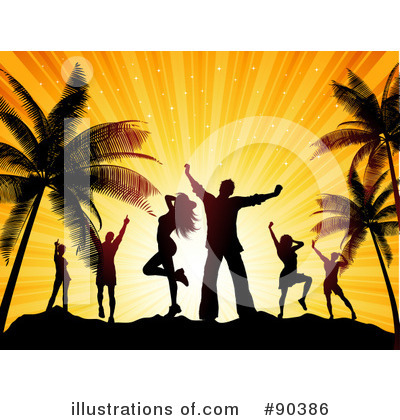 Royalty-Free (RF) Dancing Clipart Illustration by KJ Pargeter - Stock Sample #90386