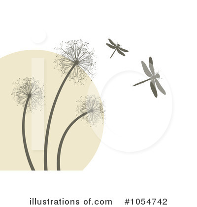 Royalty-Free (RF) Dandelion Clipart Illustration by vectorace - Stock Sample #1054742