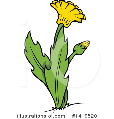 Royalty-Free (RF) Dandelion Clipart Illustration by dero - Stock Sample #1419520