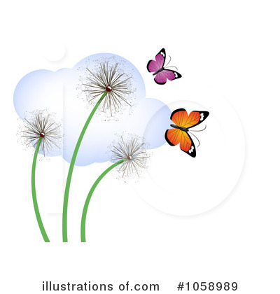 Dandelion Clipart #1058989 by vectorace