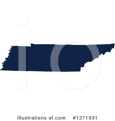 Dark Blue State Clipart #1371931 by Jamers