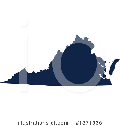Dark Blue State Clipart #1371936 by Jamers