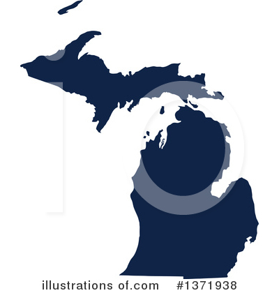 Dark Blue State Clipart #1371938 by Jamers