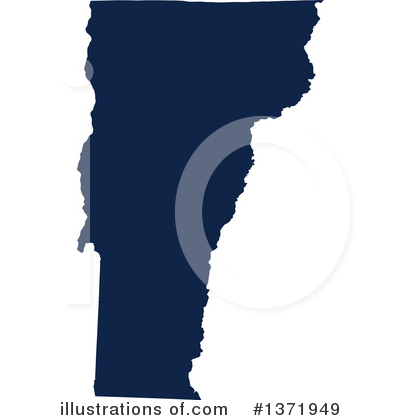 Dark Blue State Clipart #1371949 by Jamers