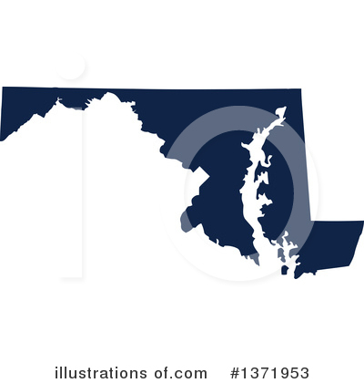 Dark Blue State Clipart #1371953 by Jamers