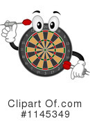 Royalty-Free (RF) Dart Board Clipart Illustration #1145349