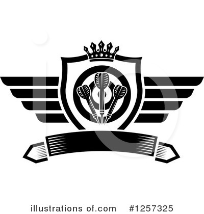 Winged Shield Clipart #1257325 by Vector Tradition SM
