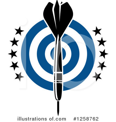 Darts Clipart #1258762 by Vector Tradition SM