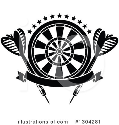 Darts Clipart #1304281 by Vector Tradition SM