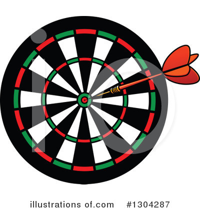 Darts Clipart #1304287 by Vector Tradition SM