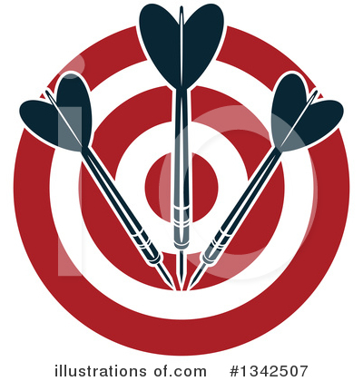 Darts Clipart #1342507 by Vector Tradition SM