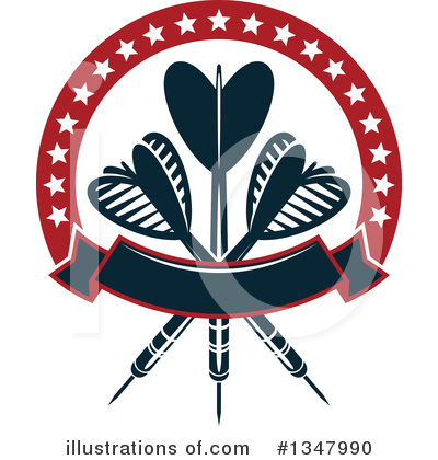 Darts Clipart #1347990 by Vector Tradition SM