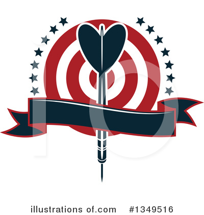 Darts Clipart #1349516 by Vector Tradition SM