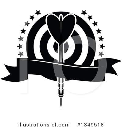 Darts Clipart #1349518 by Vector Tradition SM