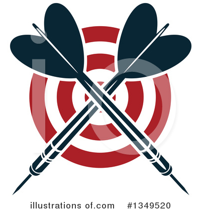 Darts Clipart #1349520 by Vector Tradition SM