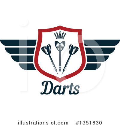 Winged Shield Clipart #1351830 by Vector Tradition SM