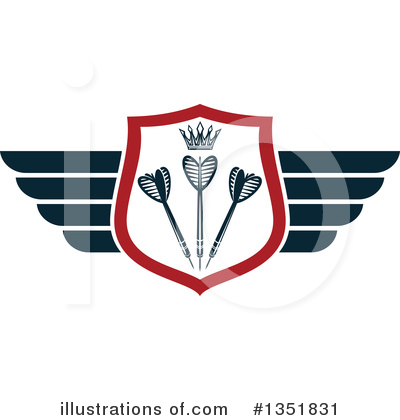 Winged Shield Clipart #1351831 by Vector Tradition SM