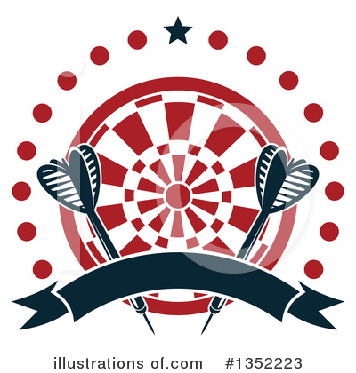 Darts Clipart #1352223 by Vector Tradition SM