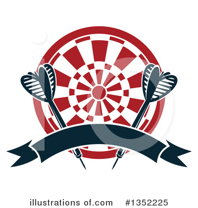 Darts Clipart #1352225 by Vector Tradition SM