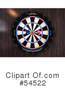 Royalty-Free (RF) Darts Clipart Illustration #54522