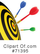 Royalty-Free (RF) Darts Clipart Illustration #71395