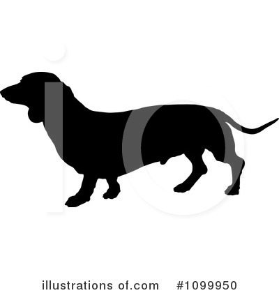 Royalty-Free (RF) Daschund Clipart Illustration by Maria Bell - Stock Sample #1099950