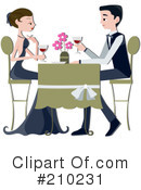 Royalty-Free (RF) Dating Clipart Illustration #210231