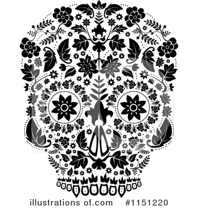 Royalty-Free (RF) Day Of The Dead Clipart Illustration by lineartestpilot - Stock Sample #1151220