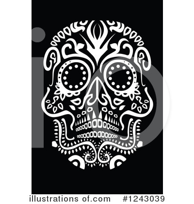Day Of The Dead Clipart #1243039 by lineartestpilot