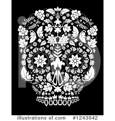 Day Of The Dead Clipart #1243042 by lineartestpilot