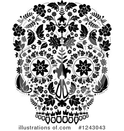 Day Of The Dead Clipart #1243043 by lineartestpilot