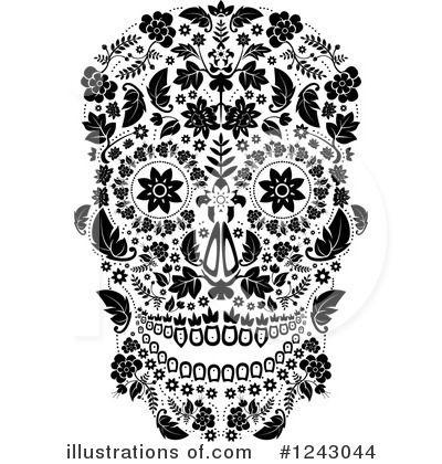 Day Of The Dead Clipart #1243044 by lineartestpilot