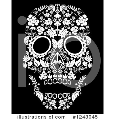 Day Of The Dead Clipart #1243045 by lineartestpilot