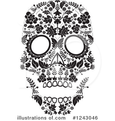 Day Of The Dead Clipart #1243046 by lineartestpilot