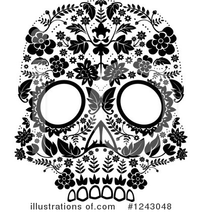 Day Of The Dead Clipart #1243048 by lineartestpilot