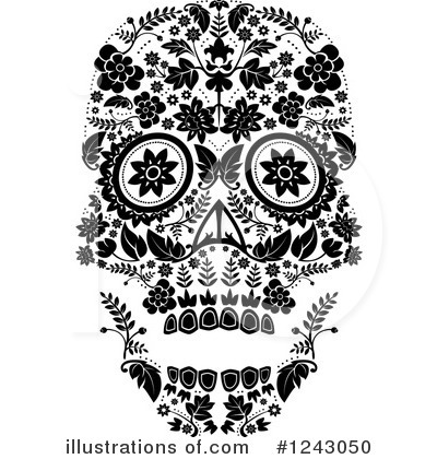 Day Of The Dead Clipart #1243050 by lineartestpilot