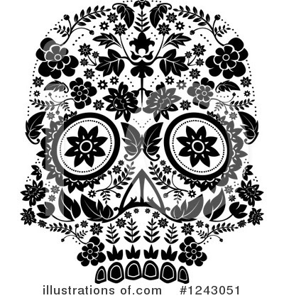 Day Of The Dead Clipart #1243051 by lineartestpilot