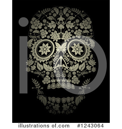 Day Of The Dead Clipart #1243064 by lineartestpilot