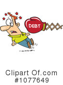 Royalty-Free (RF) debt Clipart Illustration #1077649