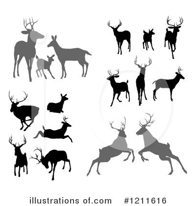 Stag Clipart #1211616 by AtStockIllustration