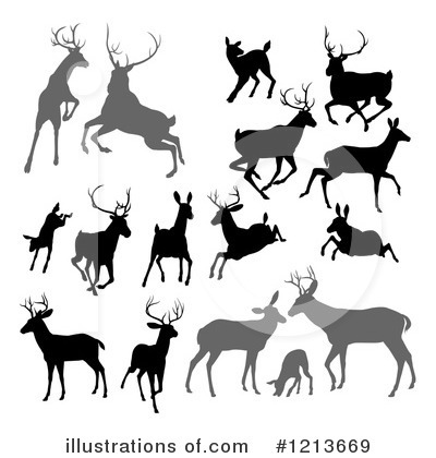 Stag Clipart #1213669 by AtStockIllustration