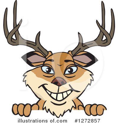 Royalty-Free (RF) Deer Clipart Illustration by Dennis Holmes Designs - Stock Sample #1272857