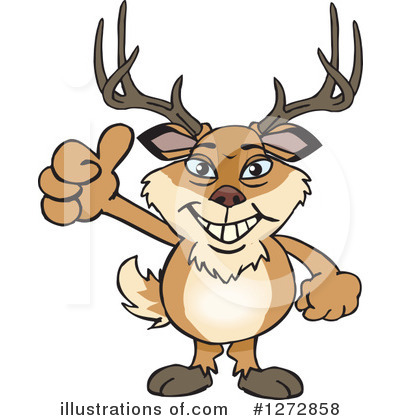 Deer Clipart #1272858 by Dennis Holmes Designs