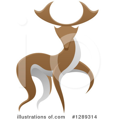 Stag Clipart #1289314 by AtStockIllustration