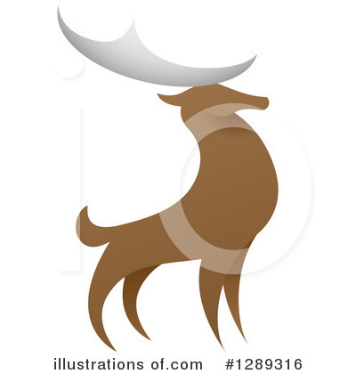 Stag Clipart #1289316 by AtStockIllustration