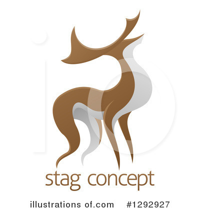 Stag Clipart #1292927 by AtStockIllustration