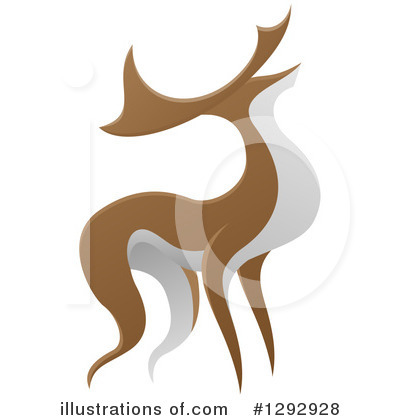 Stag Clipart #1292928 by AtStockIllustration