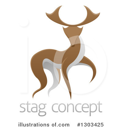 Stag Clipart #1303425 by AtStockIllustration