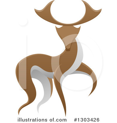 Stag Clipart #1303426 by AtStockIllustration