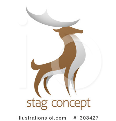Stag Clipart #1303427 by AtStockIllustration